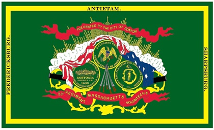 9th Massachusetts Irish Brigade Regimental Flag