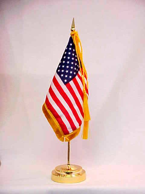 High Quality American Desk Flag with weighted base