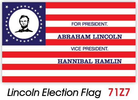 Lincoln political campaign flag