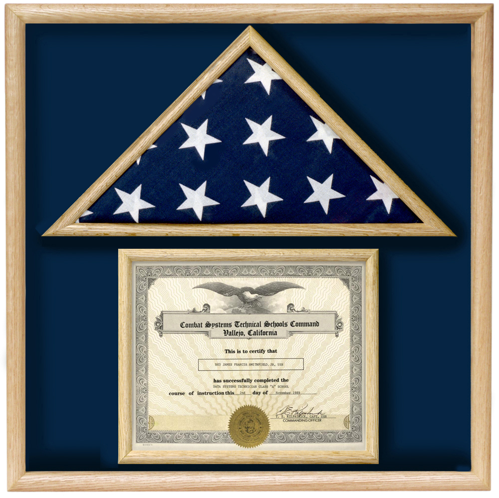 Flag Display Case For Certificate