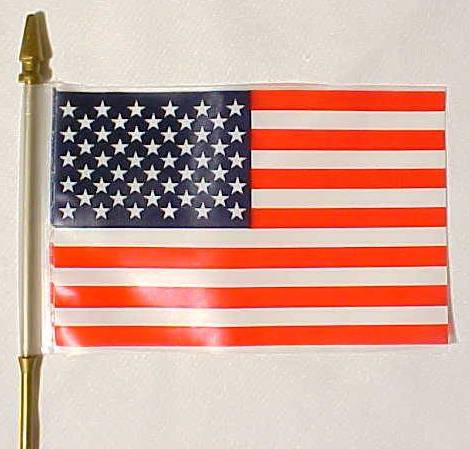 "4x6"" Plastic US Flag"