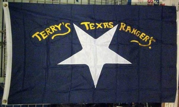 Terry's Texas Rangers Flag