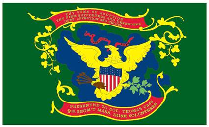 9th Massachusetts Irish Brigade Regiment  Flag