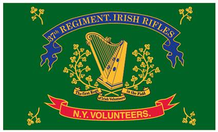 37th New York Irish Brigade Regiment Flag