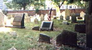 Hopkinson's unmarked grave in Christ Church Burial Ground in Philadelphia