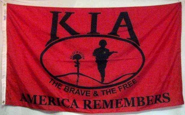KIA Honor flag