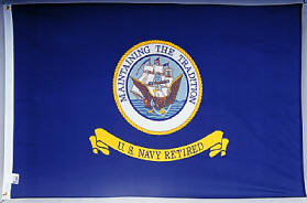 Retired Navy Flag