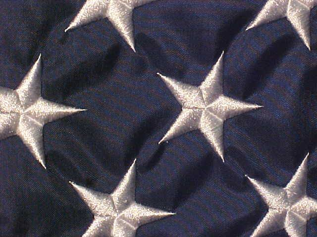 embroiderd stars