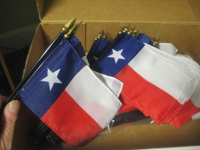 "Texas 4x6"" Desk Flag"